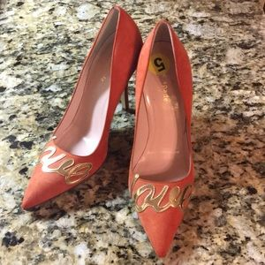 Kate Spade coral suede love pumps 5